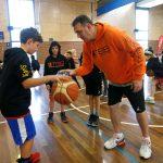 Basketball Training for kids - Girl playing basketball at School holiday basketball program July 2019