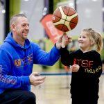Brett Rainbow at School holiday basketball camp July 2019