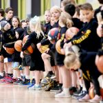 Kids with basketball - School holiday basketball camp July 2019