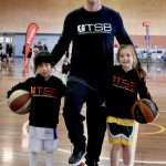 Brett Rainbow with kids - July 2019 camp